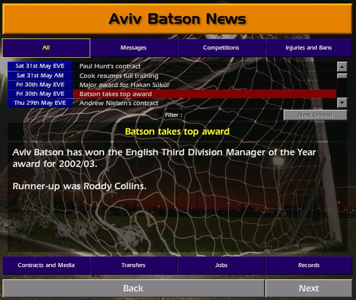 מאמן השנה מהליגה החמישית לליגת האלופות - עונה 2