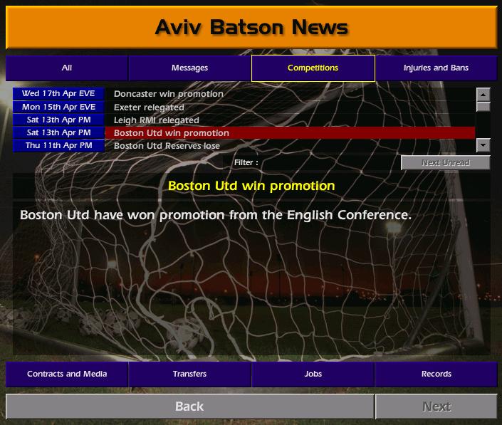 עליית ליגה מהליגה החמישית לליגת האלופות - עונה 1