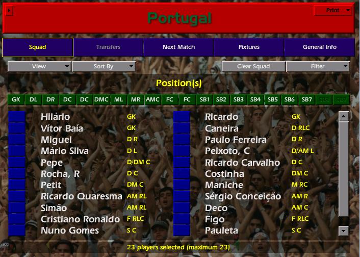 המסע של נבחרת פורטוגל פרק 3 סגל למונדיאל 2006