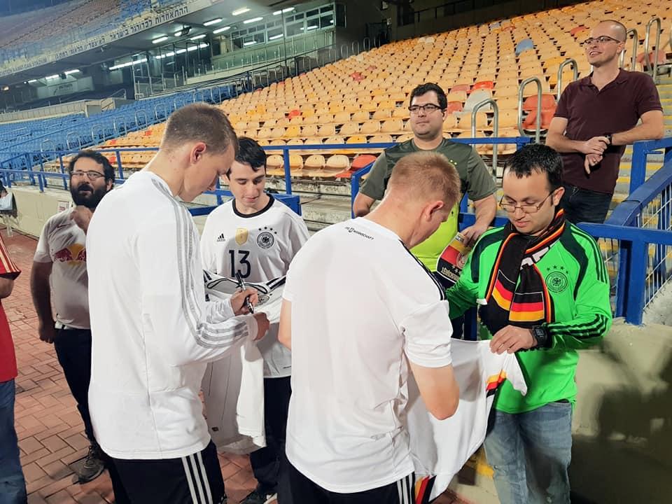 דן כהנא בביקור נבחרת גרמניה הצעירה