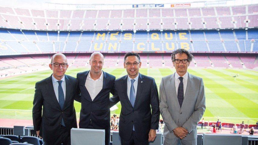 ברתומאו, נשיא ברצלונה, יחד עם ג'ורדי קרויף, ישתפו פעולה בעונה הבאה (קרדיט Jordi Cruyff Twitter Page)
