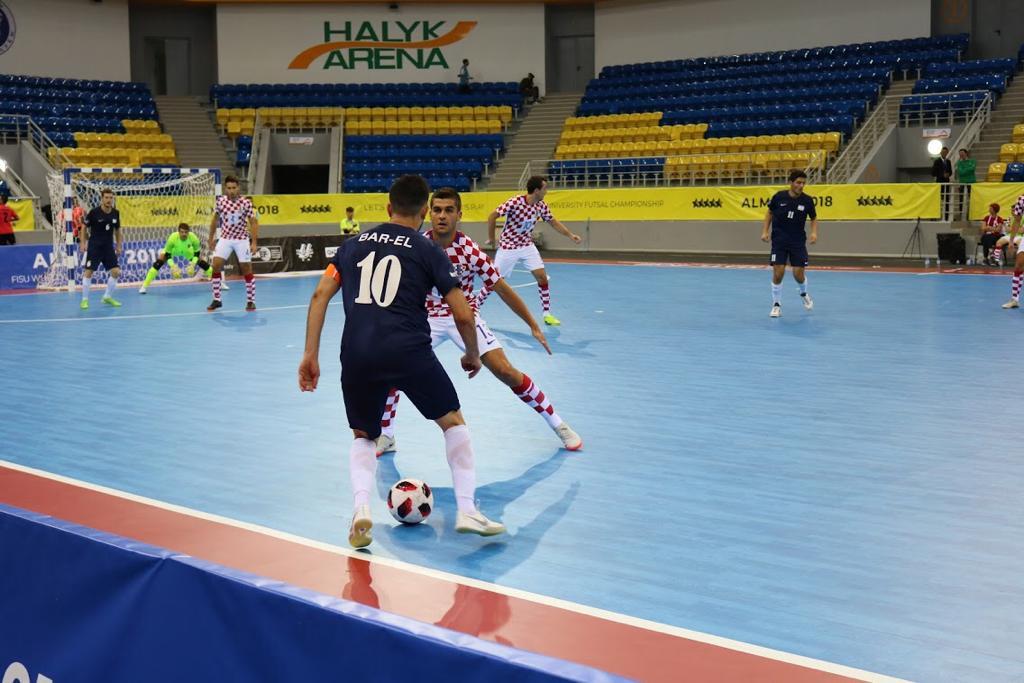 דן בר-אל במדי נבחרת ישראל בפוטסל נגד נבחרת קרואטיה