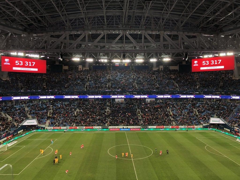 גזפרום ארנה. המזל כבר לא משחק תפקיד. מתוך הטוויטר הרשמי של Gazprom Arena.