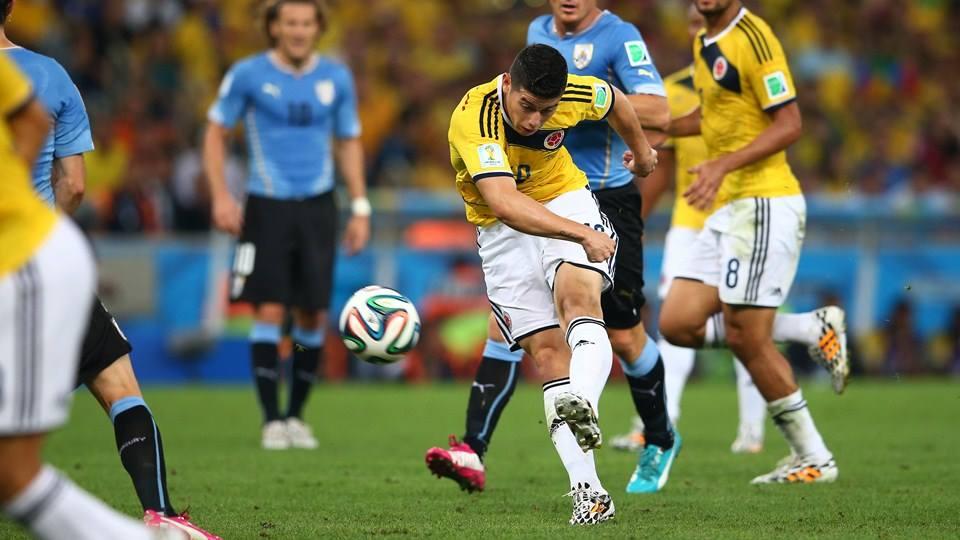 חאמס רודריגז, קולומביה נגד אורוגוואי